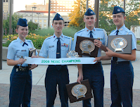 2008 Color Guard team after winning the National Color Guard Competition