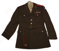 CAP Captain's uniform jacket from 1942-1944 with the distinctive red shoulder stripes